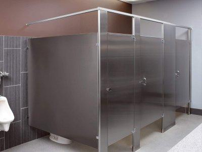 金属板卫生间隔断-YC114